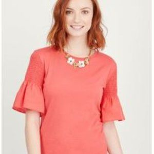 Stella and Dot Bianca Tee Ruched Sleeve 2X
